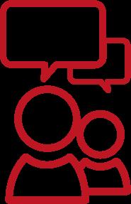 Gesprek icoon rood