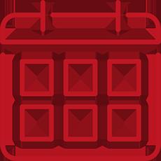 kalender icoon rood